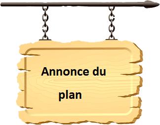 Annonce du plan :